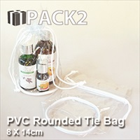 PVC Rounded Tie Bag - 8 X 14cm - 10Pcs