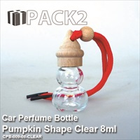 8ml Car Perfume Bottle Pumpkin Shape Clear - 10Pcs